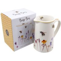 Kitchen Jug Water Colour Busy Bees Design by Jennifer Rose